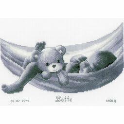 Sleeping Baby In Hammock Birth Sampler Cross Stitch Kit