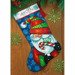 Sweet Santa Needlepoint Stocking Kit