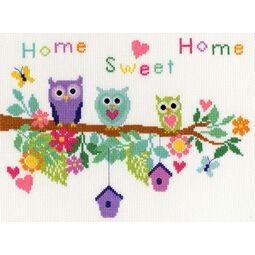 Owl Bouquet Cross Stitch Kit