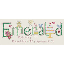 Emerald 55th Anniversary Cross Stitch Kit