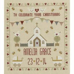 Christening Sampler Cross Stitch Kit