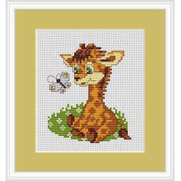 Baby Giraffe Mini Cross Stitch Kit