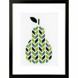 Modern Pear Cross Stitch Kit