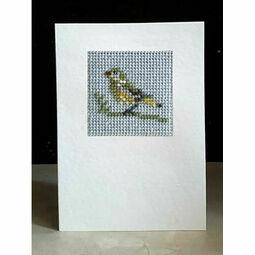 Greenfinch Mini Beadwork Embroidery Card Kit