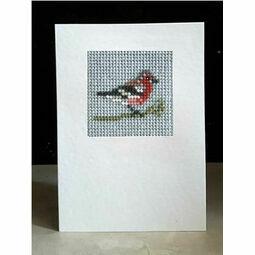 Chaffinch Mini Beadwork Embroidery Card Kit