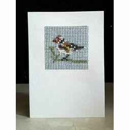 Goldfinch Mini Beadwork Embroidery Card Kit