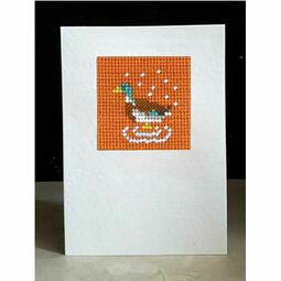 Fred The Mallard Mini Beadwork Embroidery Card Kit