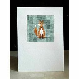 Foxy Whiskers Mini Beadwork Embroidery Card Kit