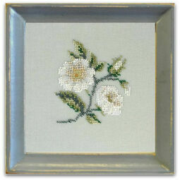 Rambling Briar Rose Beadwork Embroidery Linen Kit