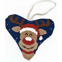 Rudolph Tapestry Heart Kit