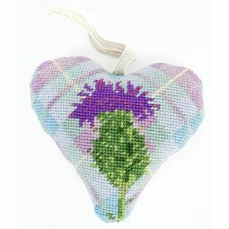 Tartan Thistle Lavender Heart Tapetry Kit