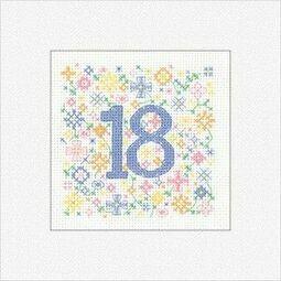18th Birthday Card Cross Stitch Kit