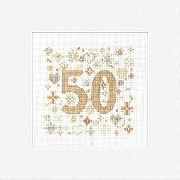 50th Celebration Cross Stitch Card Kit