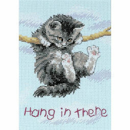 Hang on Kitty Cross Stitch Kit