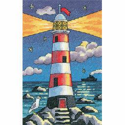 Lighthouse By Night Cross Stitch Kit