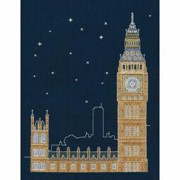 London By Night Glow In The Dark Cross Stitch Kit