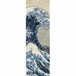 The Great Wave Bookmark Cross Stitch Kit