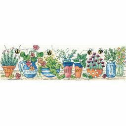 Herb Garden Cross Stitch Kit