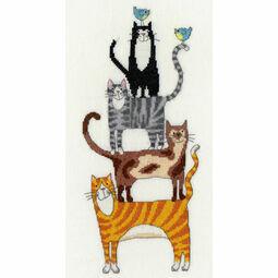 Cat Stack Cross Stitch Kit