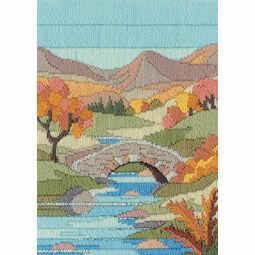 Mountain Autumn Long Stitch Kit