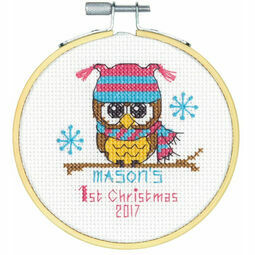 Baby's First Christmas Cross Stitch Hoop Kit