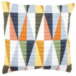 Triangles Long Stitch Cushion Panel Kit