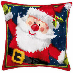 Father Christmas Chunky Cross Stitch Cushion Panel Kit