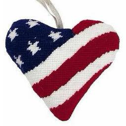 Stars & Stripes Lavender Heart Tapestry Kit
