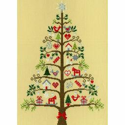 Scandi Tree Cross Stitch Kit