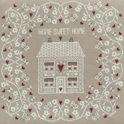 White Home Sweet Home Cross Stitch Kit