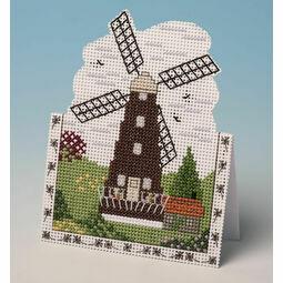 Windmill Card 3D Cross Stitch Kit
