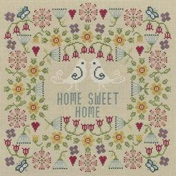 Flower Home Sweet Home Sampler Cross Stitch Kit