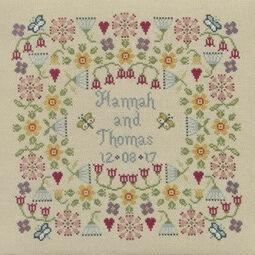 Flower Wedding Sampler Cross Stitch Kit