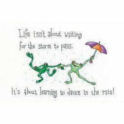 Dancing In The Rain Cross Stitch Kit
