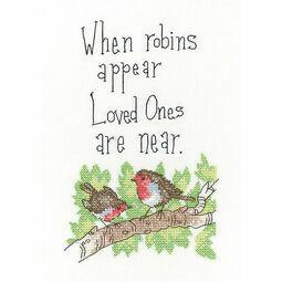 When Robins Appear Cross Stitch Kit