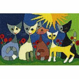 Five Cats Cross Stitch Kit