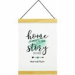 Story Begins Banner Cross Stitch Kit