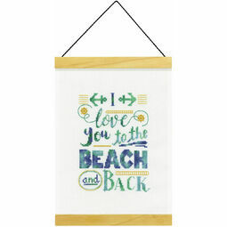 Beach And Back Banner Cross Stitch Kit