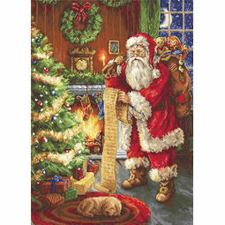 Santa's List Cross Stitch Kit