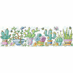 Cactus Garden Cross Stitch Kit