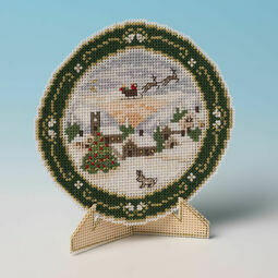 Christmas Plate - Home By Dawn 3D Cross Stitch Card Kit