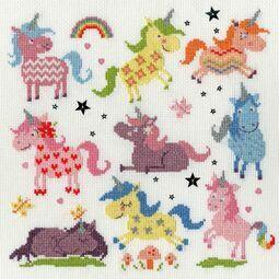 Slightly Dotty Unicorns Cross Stitch Kit