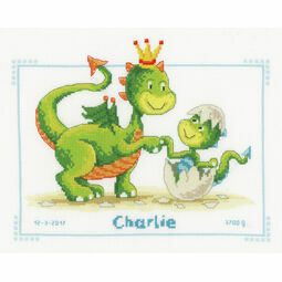 Dragons Cross Stitch Birth Record Kit
