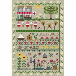 Summer Blooms Cross Stitch Kit