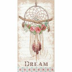 Floral Dreamcatcher Cross Stitch Kit
