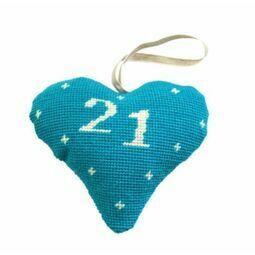 21st Birthday Celebration Heart Tapestry Kit