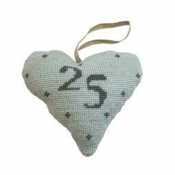 Silver Wedding Anniversary Heart Tapestry Kit