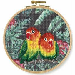 Love Birds Cross Stitch Hoop Kit
