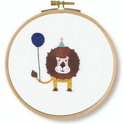 Roar! Lion Embroidery Kit