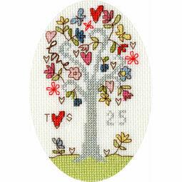 Silver Celebration Cross Stitch Card Kit